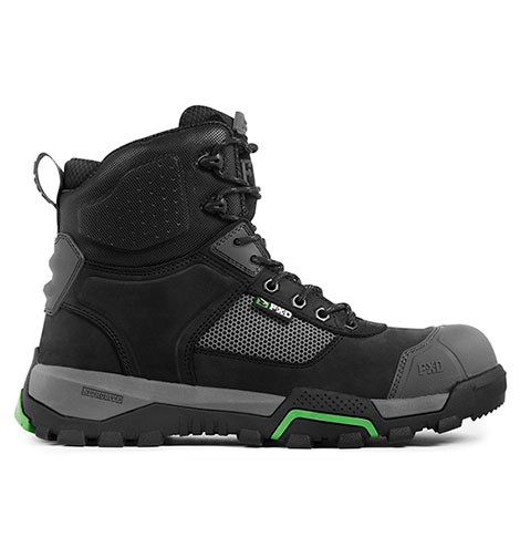 Workboot with vented mesh panel